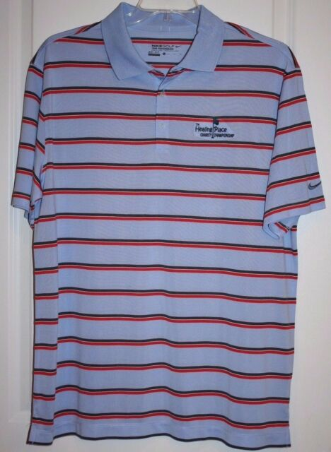 27a493ef18 NWOT MEN S STRIPED NIKE GOLF TOUR PERFORMANCE POLO SHIRT- Nike Dri-Fit -  Size