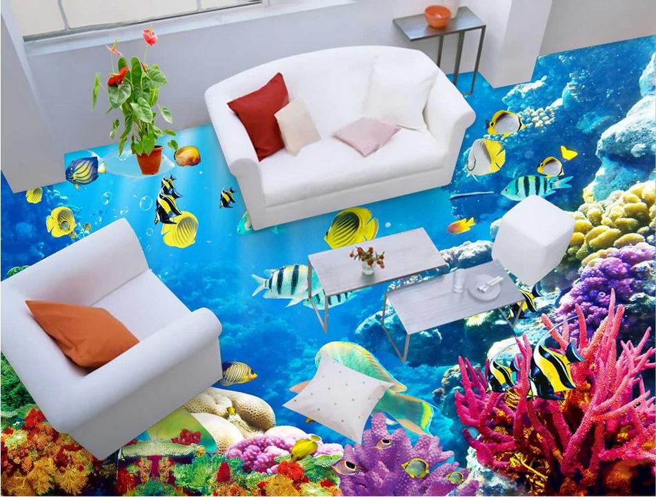 3D Sunny Corals Sea 78 Floor WallPaper Murals Wall Print Decal AJ WALLPAPER US