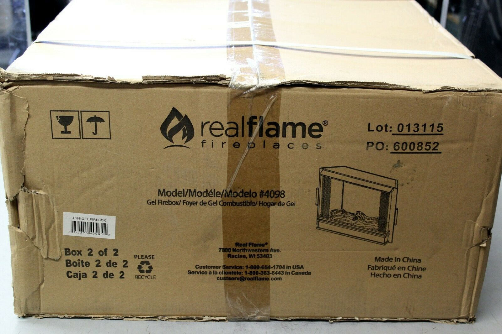Real Flame 4099 Electric Firebox