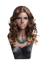 African America Female Mannequin Display Head Bust