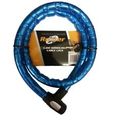 Made By oxford- Roxter BARRIER Motorcycle Scooter Armoured Cable Lock 1.4m blue