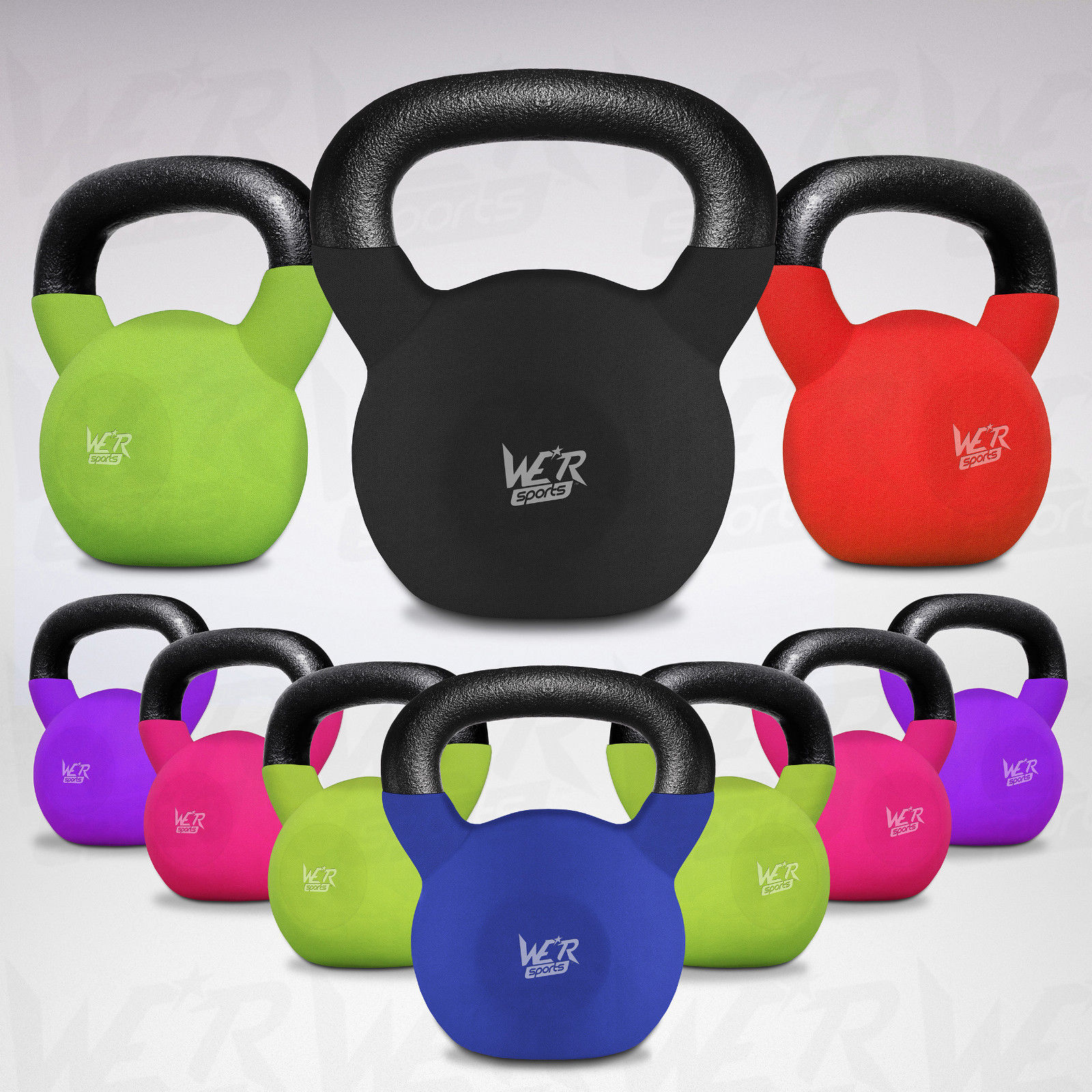 We R Fitness Sports Kettlebells With Rubber Sleeve Home Gym Fitness R Exercise Kettlebell 790b4f