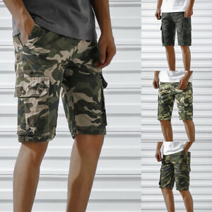Mens-Cargo-Shorts-Casual-Summer-Military-Army-Combat-Camo-Half-Pants-Tactical