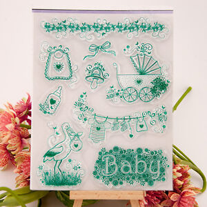 9x new born baby party acrylic diy unmounted stamp plate for dly image is loading 9x new born baby party acrylic diy unmounted stopboris Choice Image