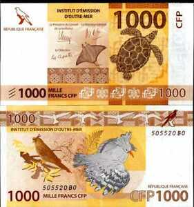 FRENCH PACIFIC TERRITORIES 1000 FRANCS 2014 P 6 UNC
