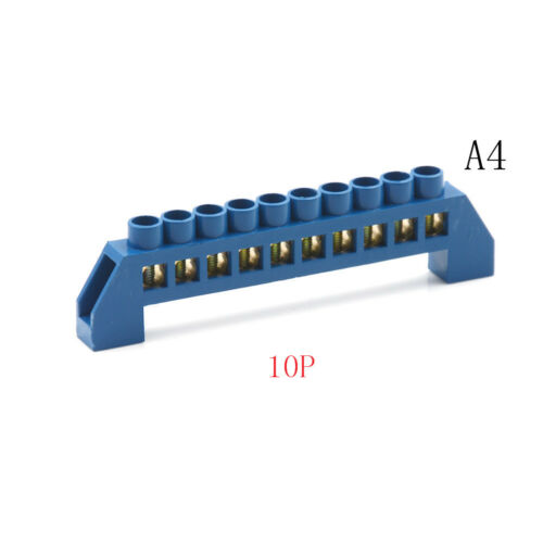 Brass 4-12P Plug-in Wire Connector Screw Terminal Barrier Block 250-450V ATDD