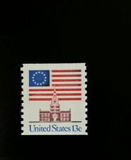 1975 13c Flag over Independence Hall, Coil Scott 1625 Mint F/VF NH