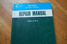 Toyota 5fbe 10 13 15 18 Forklift Service Repair Shop Manual Book Lift Truck 1993