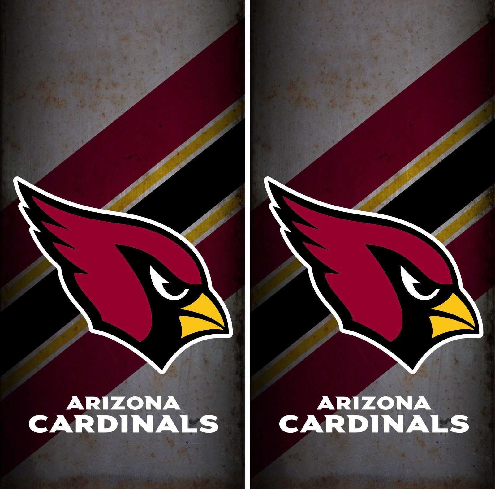 Arizona  Cardinals Team Cornhole Wrap NFL Skin Game Board Set Vinyl Decal CO05  hot sale online