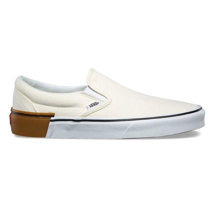 negozio online Vans Classic Slip On On On (Gum Block) Classic bianca Uomo Skate scarpe  varie dimensioni