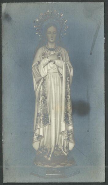 Humilde Estampa Antigua De La Inmaculada Andachtsbild Santino Holy Card Santini Hermoso En Color