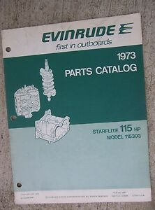 1973 Evinrude Starflite 115 Hp Outboard Motor Parts Catalog Model 115393 Boat L Ebay