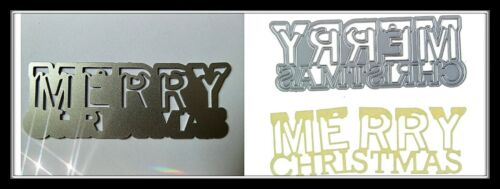 Merry Christmas Sentiment Metal Cutting Die,Stencil,Craft,Card Making,DIY,Xmas