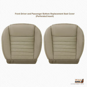 Groovy Details About 2007 2008 2009 Ford Mustang Gt Driver Passenger Bottom Tan Leather Seat Cover Beatyapartments Chair Design Images Beatyapartmentscom
