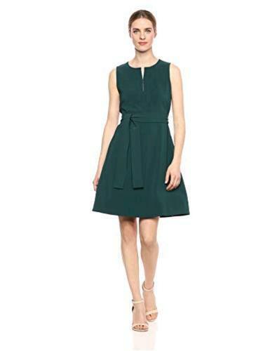 Brand Size 12.0 Hunter Green Lark /& Ro Women/'s Sleeveless Split Crew