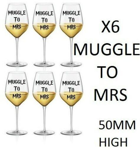 X6 магловский к миссис наклейки бокал наклейка винил Гарри Поттер курица сделай
