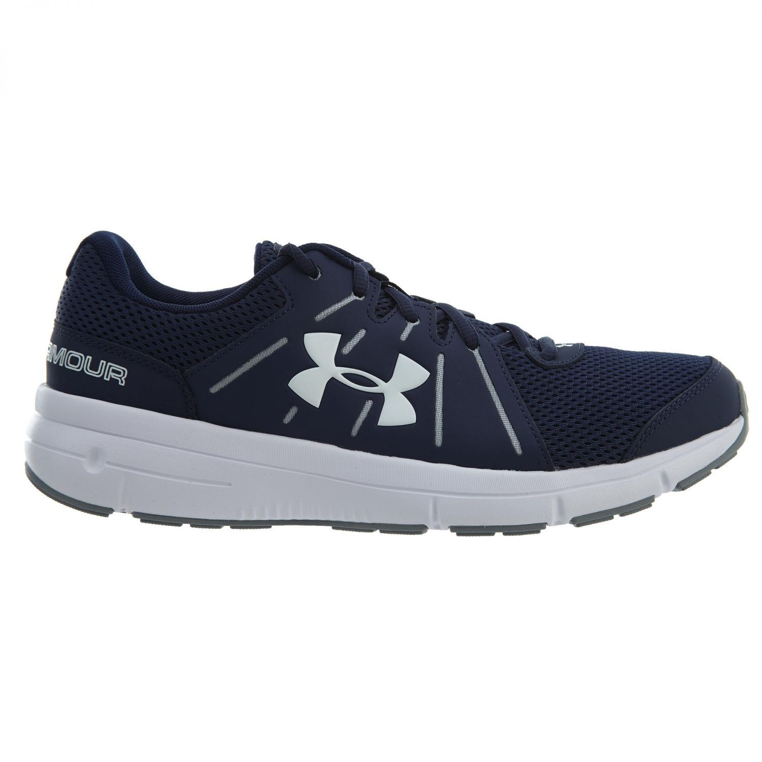 Under Armour Dash RN 2 Uomo 1285671-410 Navy Steel White Running Shoes Size 10