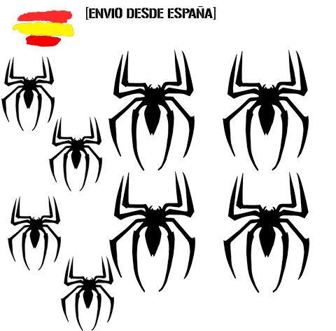 Vinilo de corte pegatinas X8 arañas spiderman superheroes sticker decal MARVEL