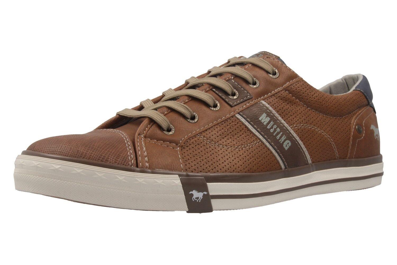Mustang Shoes Sneaker in Übergrößen cognac 4072-301-307 große Herrenschuhe