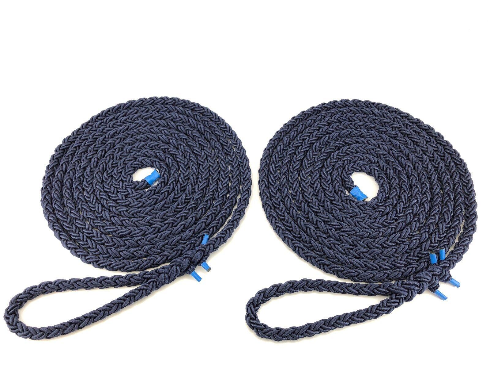 2 x 20 8 Meter mit 12mm marineblau 8 20 Strang Nylon BEFESTIGUNGSLEINE Leitungen 36ea0b