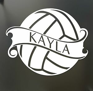 Volleyball Sticker Custom Name Decal Car Window Sticker Pick Your - Custom car window sticker