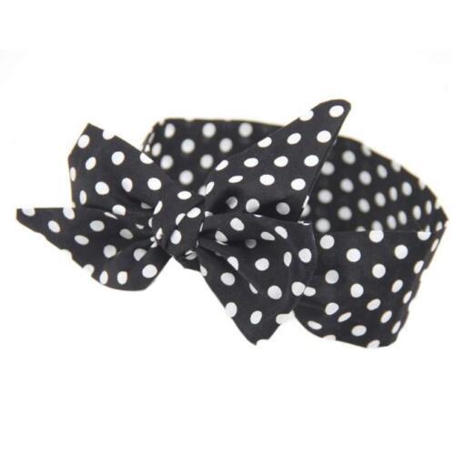 Newborn Kids Baby Girls Headband Polka Dot Elastic Hair Band Hair Accessories