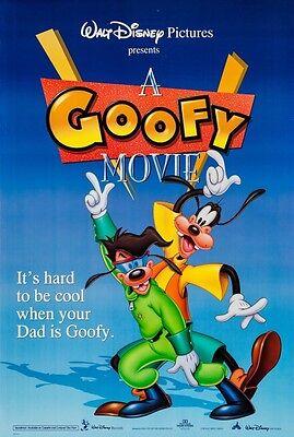 "Walt Disney's THE GOOFY MOVIE 1995 Original DS 2 Sided US 27x40"" Movie Poster"