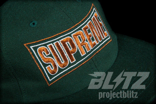 SUPREME METALLIC ARC 6-PANEL CAP DARK GREEN SS18 2018 CAMP HAT