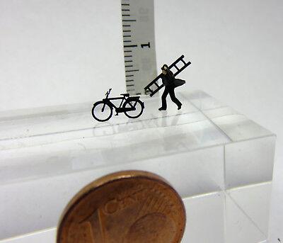 (sd03) Spazzacamini Con Bicicletta Traccia Scale Gauge Z (1:220)-er Mit Fahrrad Spur Scale Gauge Z ( 1:220 ) It-it Mostra Il Titolo Originale Alta Qualità