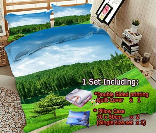 Blue Branch Bird 3D Printing Duvet Quilt Doona Covers Pillow Case Bedding Sets