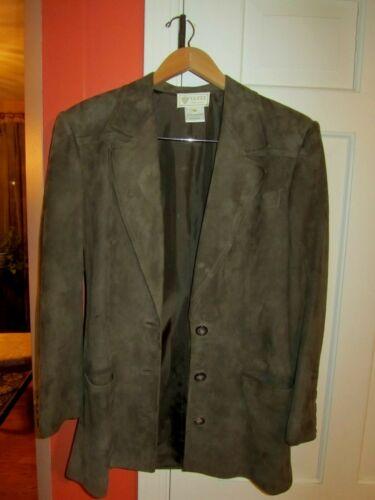 Vintage Gucci Green Suede Jacket Size 40