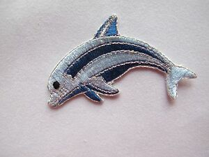 4062-2-1-2-034-Blue-Dolphin-Embroidery-Iron-On-Applique-Patch