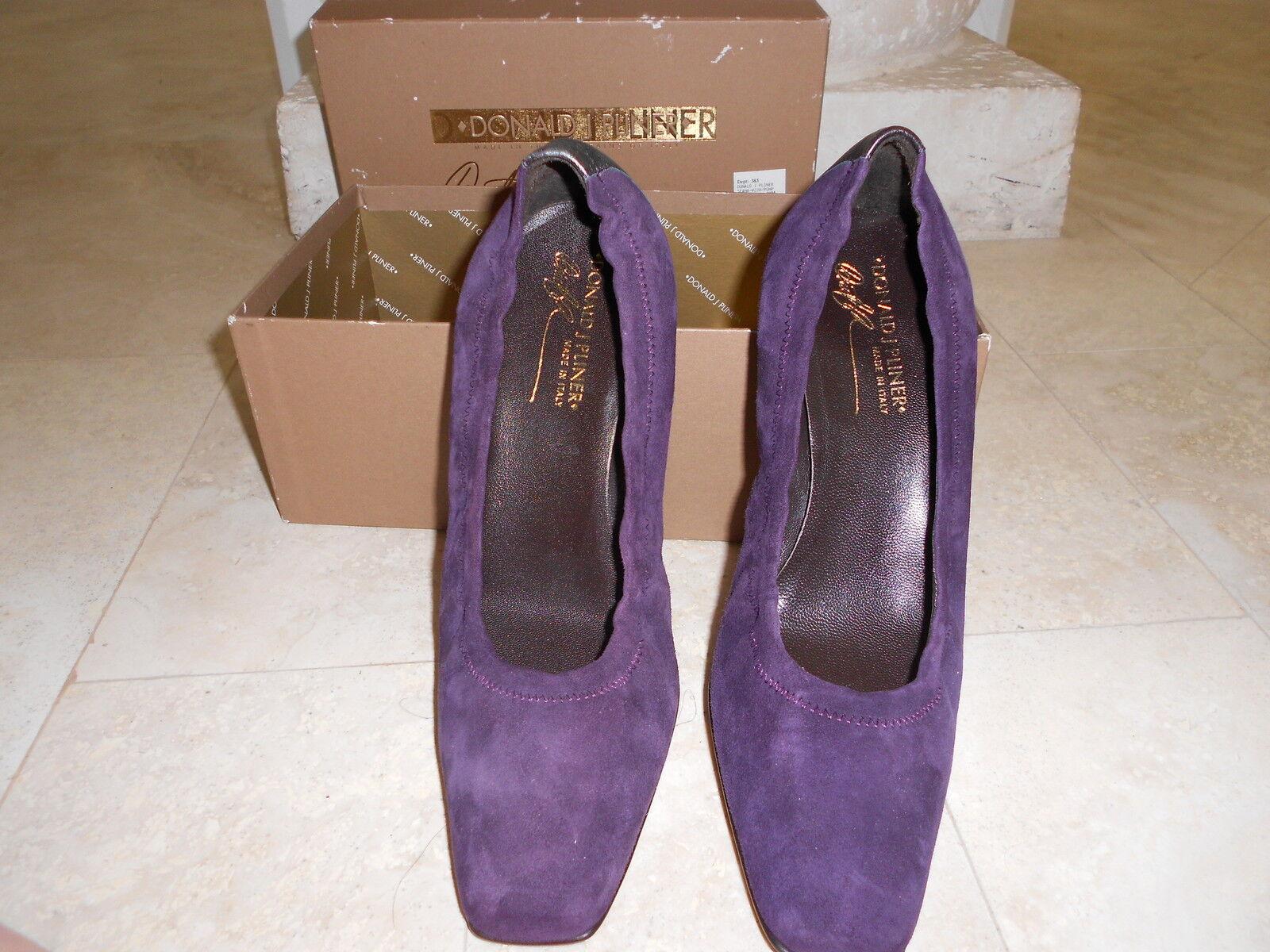 New Gorgeous Suede Sena Donald J. Pliner shoes Purple retail for  285.00