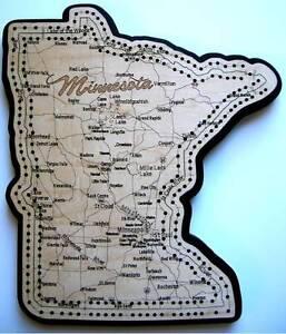 Minnesota State Shape Road Map Cribbage Board 746264260216 | eBay