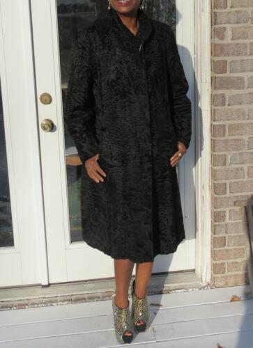 New 4 Swakara Lamb Full Jacket S Nwot 12 Coat Stroller Length Fur Black m rfASxrwaqW