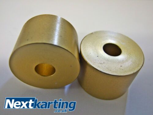 Aluminium Kart Seat Spacers Pack Of 4 Gold 8.5mm hole Washers 20 x 30mm