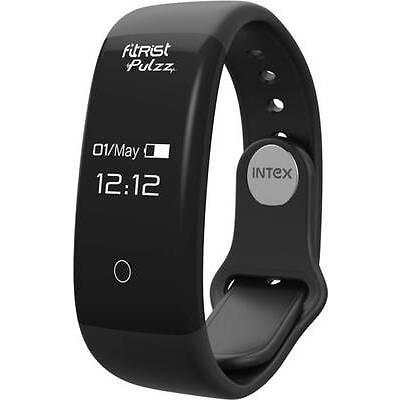 Intex fitRiSt Pulzz Health sport fitness Digital Smart Band (Black)