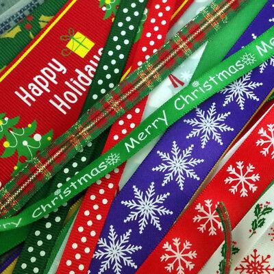 Amable 20 X Mezclado Navidad Del Grosgrain-cinta De Raso Recortes Varios Anchos Offcuts Para Vigorizar La Salud Con Eficacia
