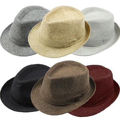 Summer Beach Hat Sun Jazz Panama Gangster Cap Men Women Unisex Trilby Fedora