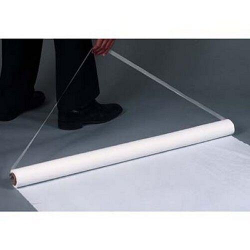 125' White Poly  (Plastic) Wedding Aisle Runner W/Tape&Rope