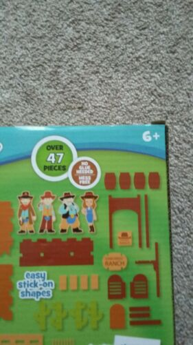 Make Your Own Foam 3-D Cowboy Ranch New over 47 pieces