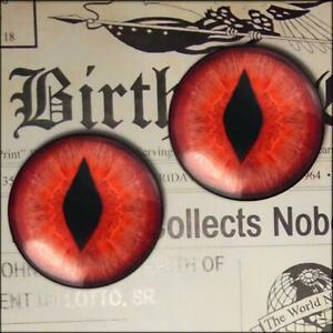 Red Snake Eyes Glass Taxidermy Realistic Eyeball 16mm Set