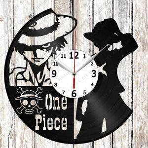 One Piece Tv Vinyl Wall Clock Vinyl Record Original Gift 2051 Ebay