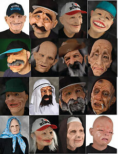 Masque Young At Heart-Old Zagone personnage MASQUES HOMME FEMME VISAGE réaliste