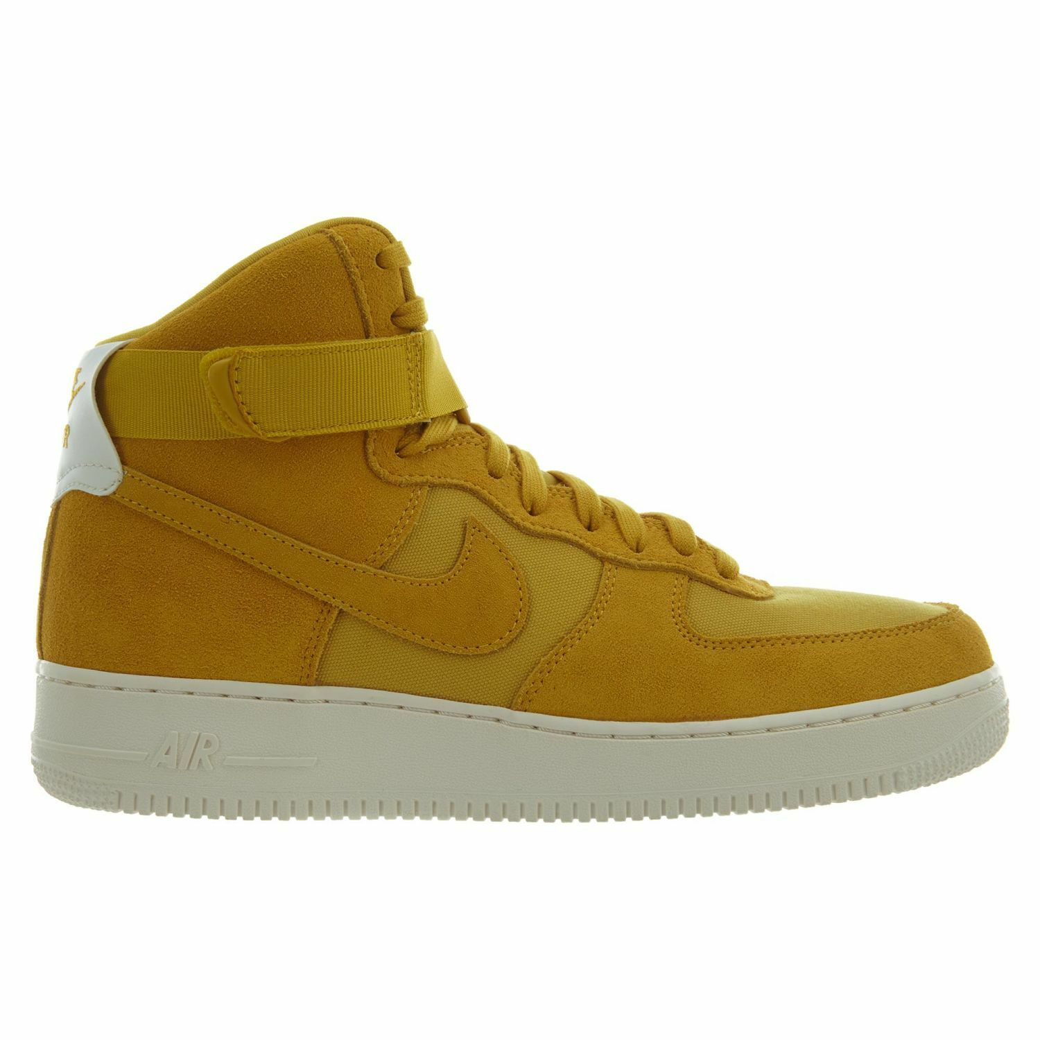 Nike Air Force 1 High 07 Suede Mens AQ8649-700 Yellow Ochre Sail shoes Size 12