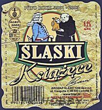 Poland Brewery Lwówek Śląski Książęce Beer Label Bieretikett Cerveza ls130.1