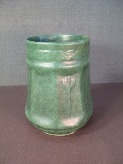 Arts Crafts Style Matte Green Life Size Pottery Detailed Human