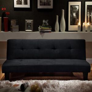 Divano letto moderno 164x95 nero microfibra soggiorno sofa for Divano letto moderno