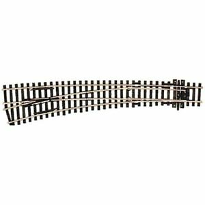 Peco-SL-87-HO-Scale-Code-100-Insulfrog-Curved-Double-Radius-Turnout-Left