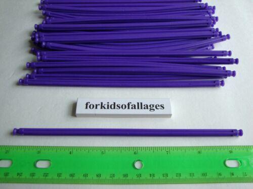 """KNEX BUILDING TOY LOT 25 Bright Purple Flexi Rods 7 1//2/"""" Flexible 7.5/""""Part//Piece"""